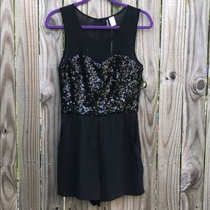 Divided by H&M Black Sequin Romper